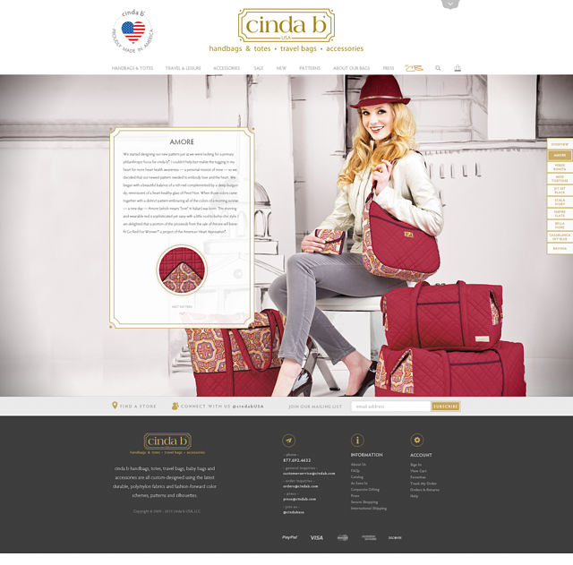 cinda b responsive web design on Magento Enterprise