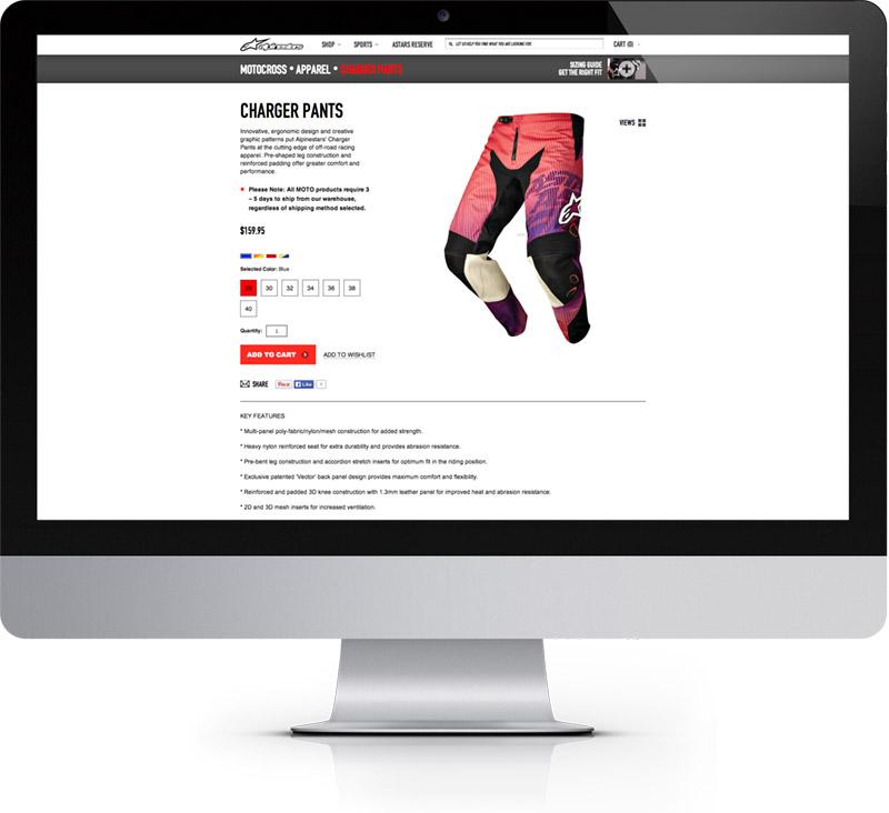 Alpinestars Case Study Responsive Web Design