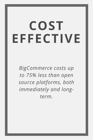BigCommerce Cost Effective