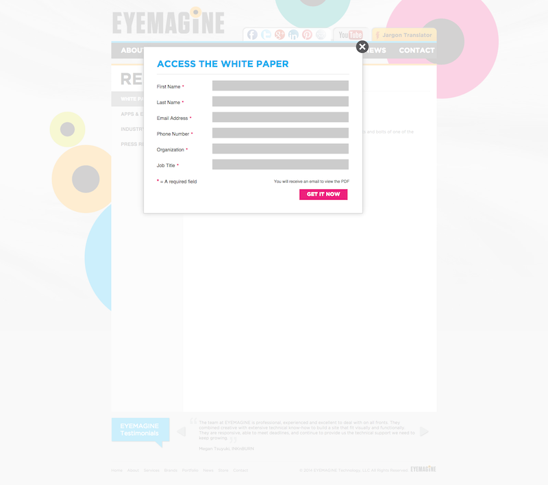 Eyemagine_webdesign_landing_page_old_copy