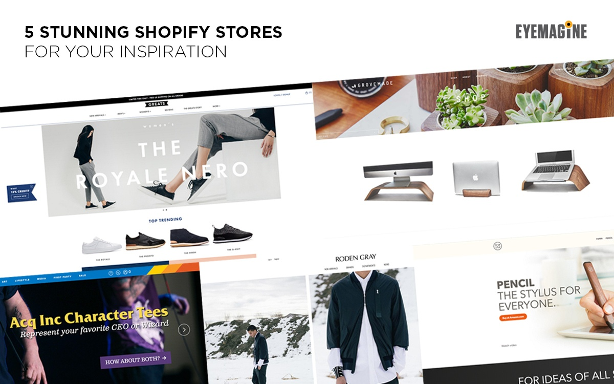 5 Stunning Shopify Stores For Your Inspiration